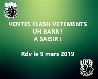 9-03-2019 | Vente Flash Vêtements UHB | A ne pas manquer !